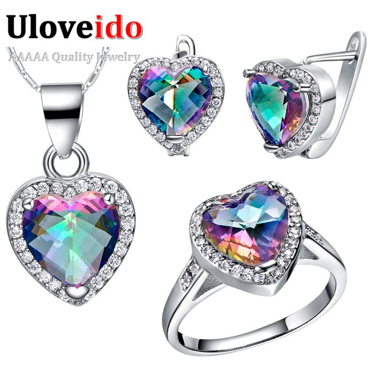 50% Off Colorful Crystal 925 Sterling Silver Wedding Bridal Jewelry Sets Earrings Ring Necklace Set Jewelry Bijoux Uloveido T481 //Price: $19.97 & FREE Shipping // Get it here ---> https://bestofnecklace.com/50-off-colorful-crystal-925-sterling-silver-wedding-bridal-jewelry-sets-earrings-ring-necklace-set-jewelry-bijoux-uloveido-t481/    #best_of_Necklace