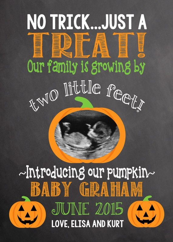 Pregnancy Announcement Halloween Pregnancy Baby Announcement Announcement…