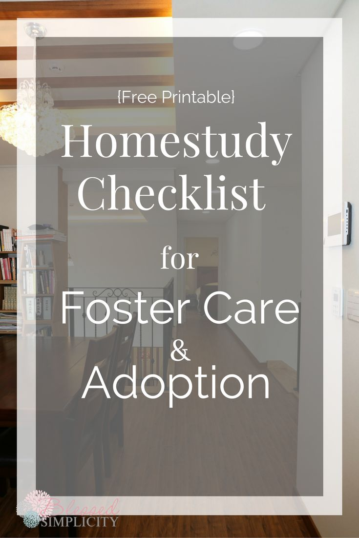 This free printable Homestudy checklist for adoption and foster care will make gathering documentation easier.