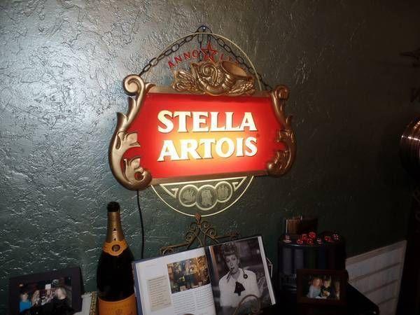 Stella Artois Neon Light Sign Beer Gold Bar Pub Man Cave Sign Plug