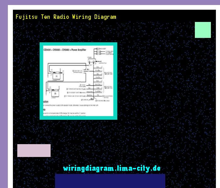 Fujitsu Ten Radio Wiring Diagram  Wiring Diagram 17515