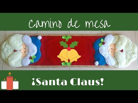 ¡Camino de mesa Santa Claus! - YouTube
