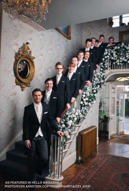 Harry with all this groomsmen.