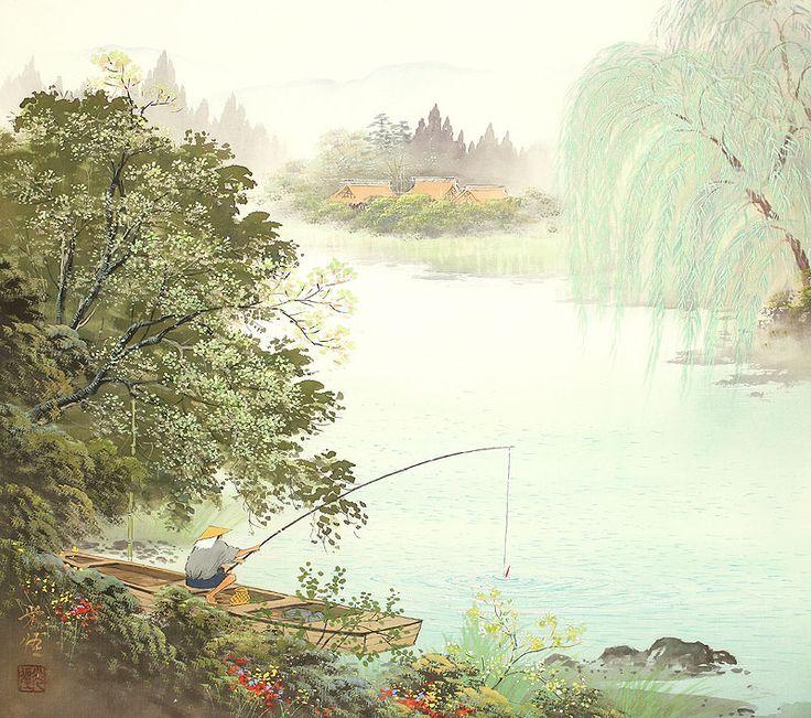 Природа в стиле сансуй. Японские пейзажи кисти Koukei Kojima | Картины и Репродукции