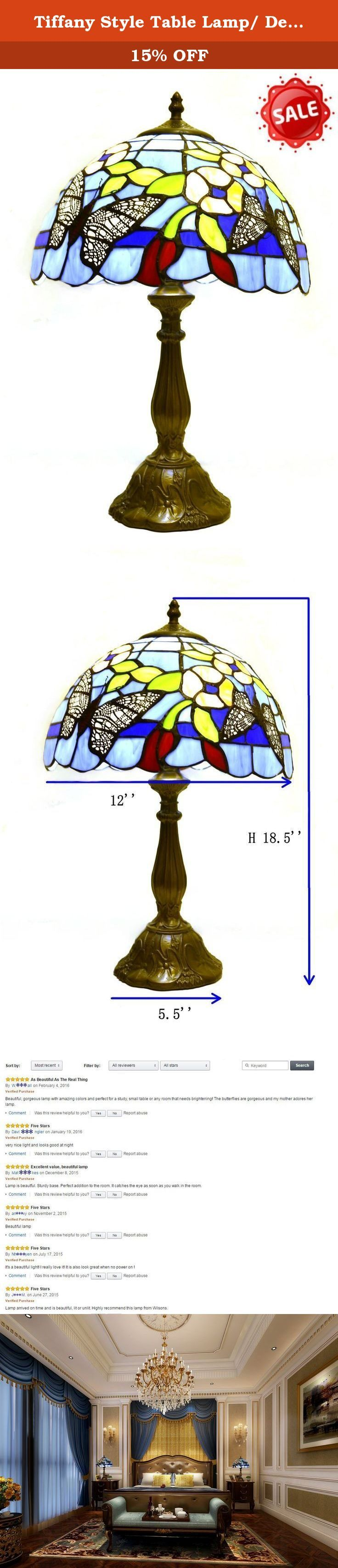 Tiffany Style Table Lamp/ Desk Lamp/ Wilsons Lighting/ NAPLES Series/ Home & Office Decor Collection/ 18.5 Inches Height/ Model G121468. NAPLES series Tiffany-style table lamp, it's an elegant addition to your room, makes painting, executive desk, sofa area, bedside, hallway, mini-bar, entertainment room, sun room or office more antique stylish. With floral motif reminiscent of verdant countrysides, the natural aesthetic forms perfectly to the Victorian elegance of Tiffany art glass. This...