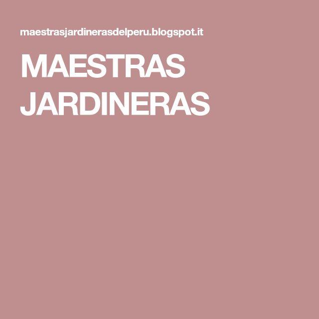 MAESTRAS JARDINERAS