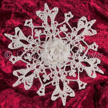 3D Crystal Rose Snowflake For Mom