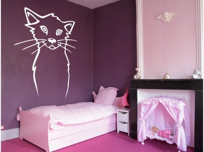 Come decorare la parete sopra il lettino del tuo bimbo? Scegliendo l'adesivo murale con un dolce gattino di sicuro farai centro! #adesivimurali #adesivomurale #stickersmurali #percameretta #perbambini #scritte #rosa #artgeist