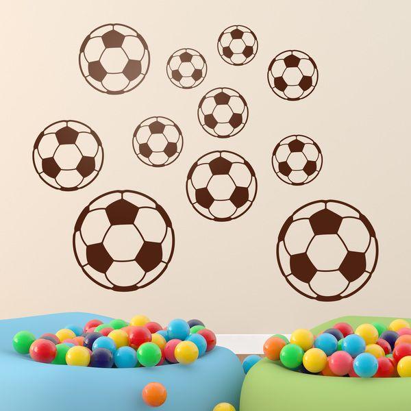 Kit palla calcio - Adesivi per bambini - Adesivi murali bambini a kit. #adesivimurali #decorazione #modelli #mosaico #palla #calcio #StickersMurali