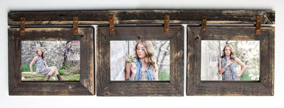 Barnwood Collage Frame 3 hole 5x7 Multi Opening Frame-Rustic Picture Frame-Reclaimed-Landscape or Portrait-Collage Frame