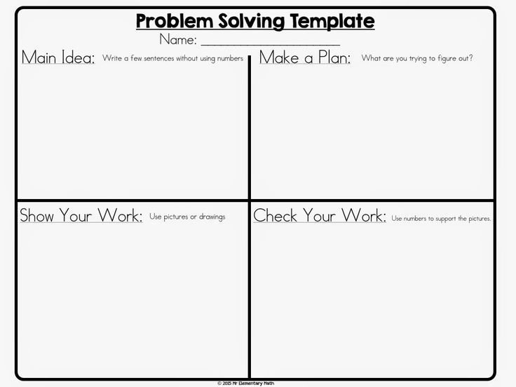 Math problem solving strategies - Supports UDL Guideline 6.2.  Using this graphic organizer helps students plan and form a strategy for attacking a math problem.  It reminds them that it's a process with multiple steps that should be thought out.  This can be used across grade levels