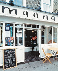 Manna (London's oldest vegetarian restaurant) and dubbed a veggie pioneer.  #veggielondon #manna
