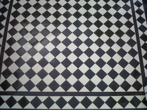 Victorian Black and White Quarry Tiles