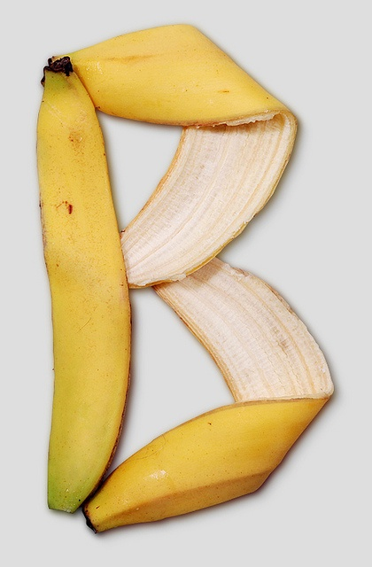 Banana Letter by Handmadefont #banana - Carefully selected by GORGONIA www.gorgonia.it