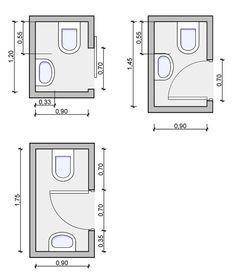 Tiny Powder Room-Layouts – vielleicht ein Teil mei…