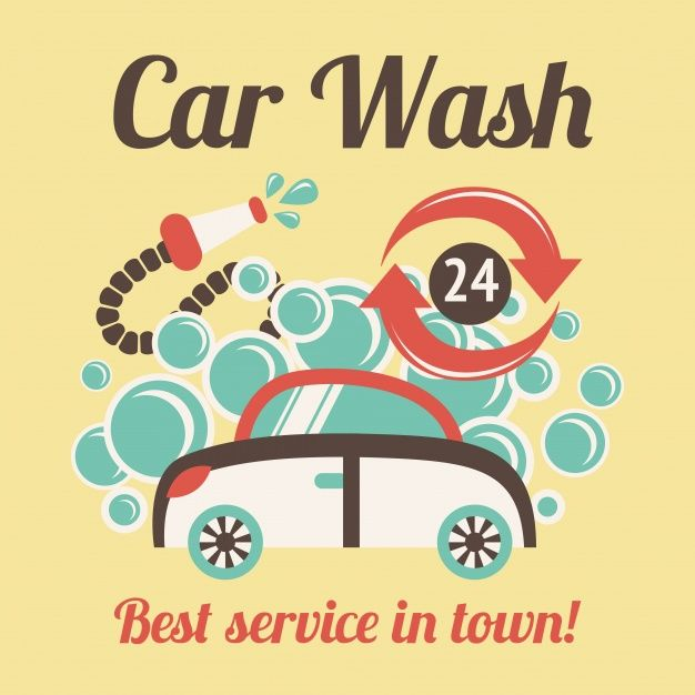 42 best car wash images on pinterest cars antique cars and autos car wash poster vector image on vectorstock solutioingenieria Images