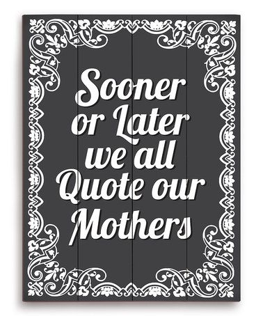 Look at this #zulilyfind! Black 'Quote Our Mothers' Wood Wall Art #zulilyfinds