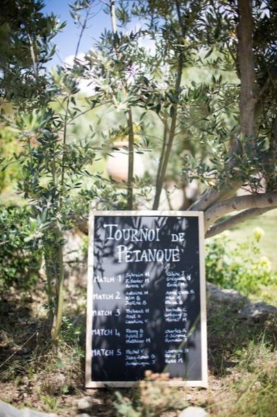 mariage en provence mariage wedding tournoi de ptanque ide mariage tableau - Mariage Mas Provencal