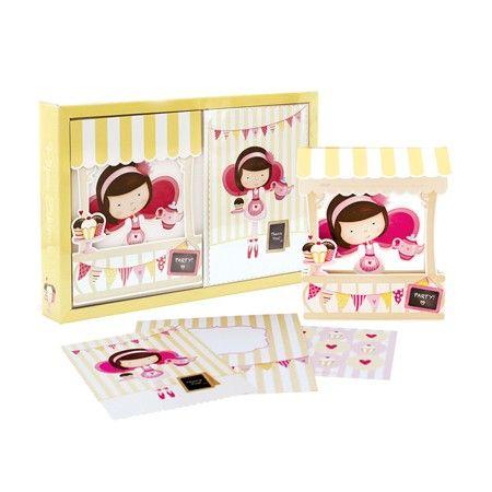 Προσκλήσεις για πάρτυ - Little Miss Cupcake