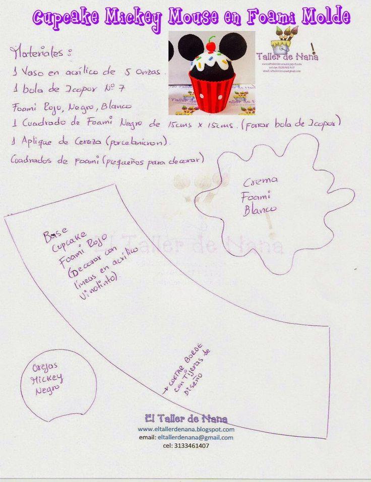 Nana Workshop: Cupcakes em foami