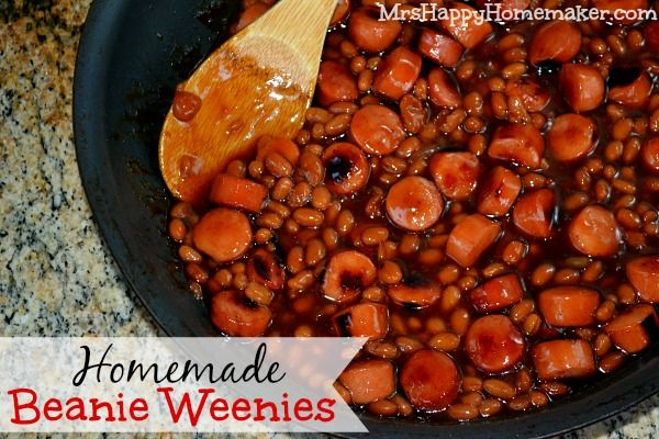 Homemade Beanie Weenies - The serving cost racks in at below $0.75 with this one, and it's my 12 year old daughter's favorite meal!