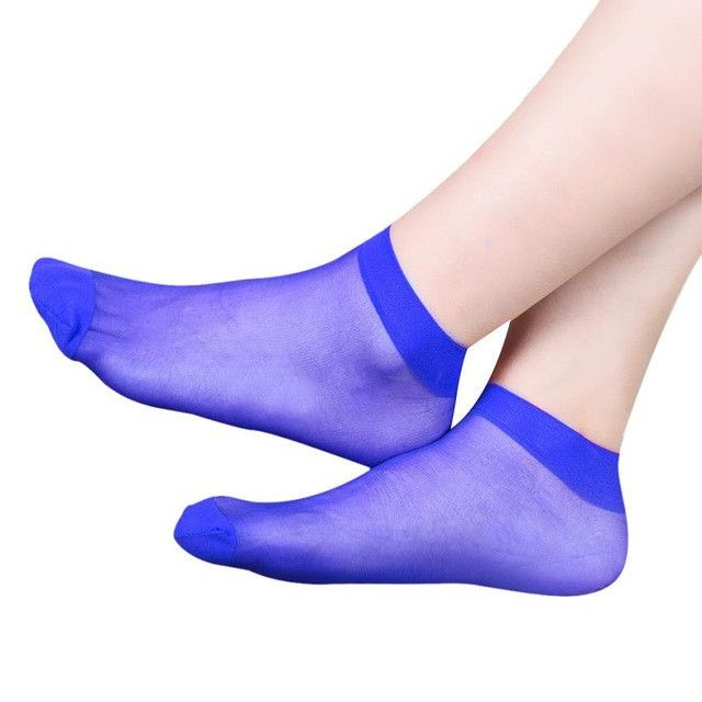 10 Pairs Socks 2016 Fashion Women's Socks Crystal Thin Transparent Thin Silk Socks Women In Summer Sokken Vrouwen 10 Colors