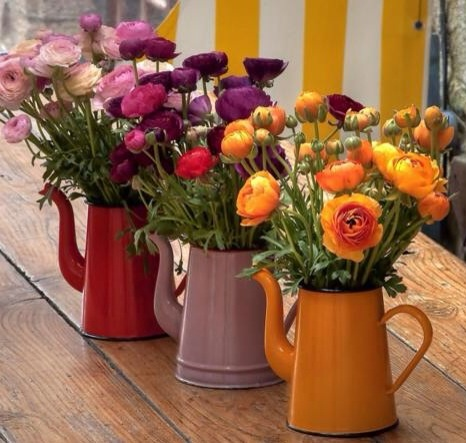 Usar bules no lugar de vasos também é bem legal, ainda mais se toda a ambientação estiver mais rústica.