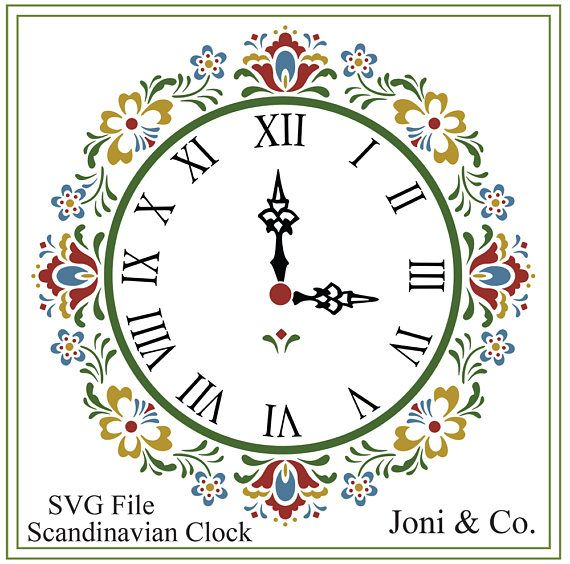 Scandinavian Clock SVG File, Swedish, Nordic svg, SVG file, vinyl cutting, printable, Clock craft ,Garden, Kitchen, Folk Art Clock design Welcome,  Thank you for visiting the shop and having a look at the original artwork offered here.  This is an instant download of a SVG file to be used for cutting vinyl among many other uses. WHAT YOU WILL RECEIVE  Your svg file will be in a zip folder for download.  A download link will be emailed to you just a few minutes after your purchase. You will…