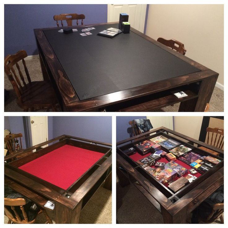 Cover tabletop with red felt. Image result for tabletop game rooms