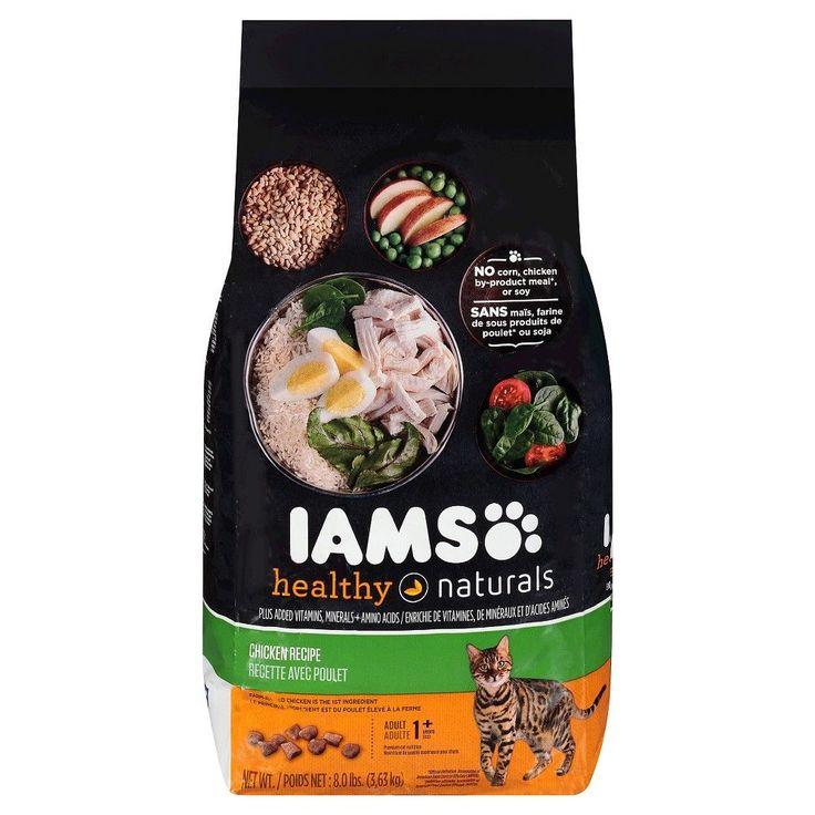 Iams healthy naturals dry cat chicken 8lb dry cat food