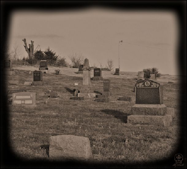 """Stull Cemetery, Stull, Kansas. Also called the """"Gates to Hell,"""" this grave site is among the Seven Portals of Hell listed by numerous haunting guides and is among America's most haunted places. Legend states that if you knock on a rock in the church's rubble pile, the Devil will answer you."""