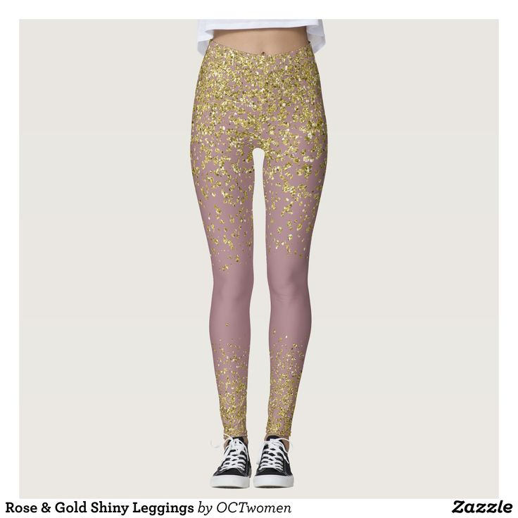 Rose & Gold Shiny Leggings : Beautiful #Yoga Pants - #Exercise Leggings and #Running Tights - Health and Training Inspiration - Clothing for #Fitspiration and #Fitspo - #Fitness and #Gym #Inspo - #Motivational #Workout Clothes - Style AND #comfort can both be possible in one perfect pair of custom #leggings. #Rose & Gold Shiny Leggings was crafted made with care each pair of leggings is printed before being sewn allowing for #fun and #creative designs on every square inch - Medium weight…