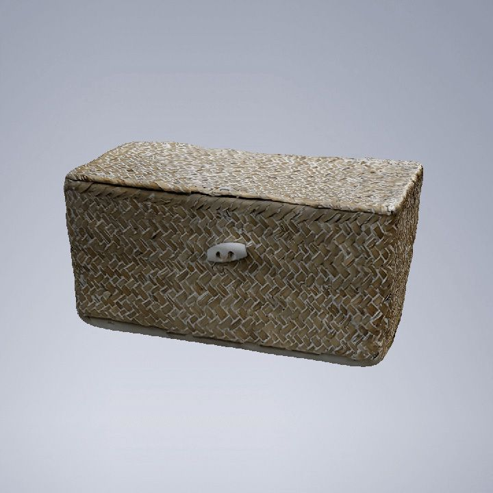 صورة متحركة باستعمال الماسح الضوئي بنظام 3d تظهر سلة منسوجة وتدور 360 درجة Tissue Holders Facial Tissue Holder Decorative Boxes