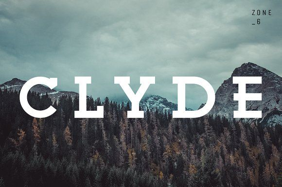 Clyde | A Vintage Slab Serif Family by Zone 6 on @creativemarket