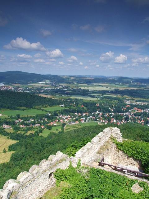 view from Chojnik Castle in Sobieszów,Lower Silesia