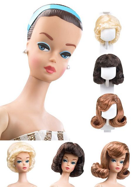 Fashion Queen Barbie, 1963. Oh yeah! Loved the wigs. The plastic hair band stretched out :(