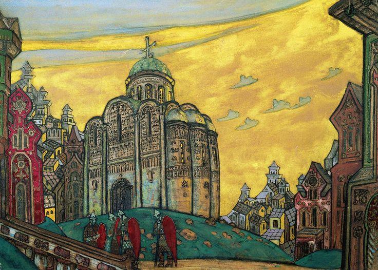 """Putivl Décor for Borodin's opera """"Prince Igor"""" 1914"""