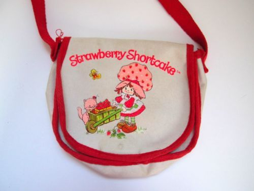 80's Strawberry Shortcake  Canvas Purse
