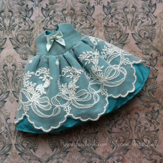 Silk & Lace dress for Blythe by Sharon Avital by SharonAvitalDolls