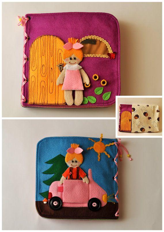Dollhouse Quiet Book/ Felt Quiet Book/ Busy Book/ Handmade/ Travel Toy