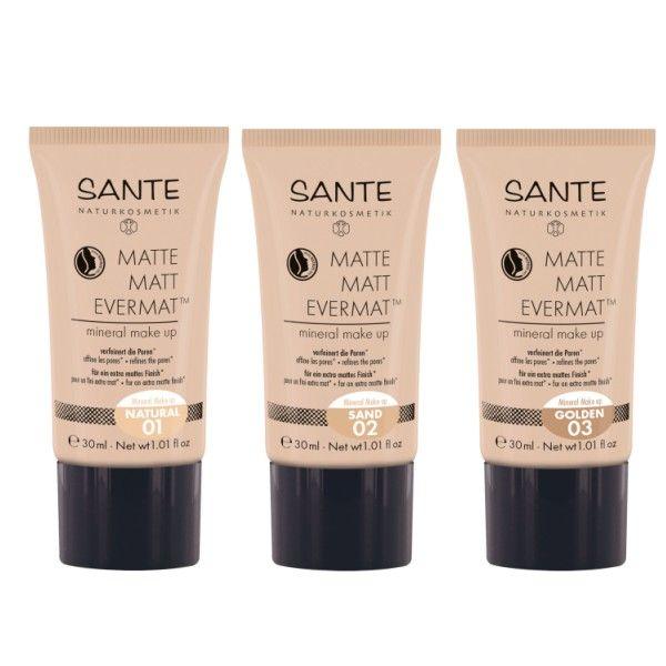 BIO zmatňujúci Matte Matt Evermat™ minerálny make-up pre extra matný vzhľad pleti. Pri pravidelnom používaní prečisťuje póry, je určený špeciálne pre zmiešaný a mastný typ pleti, s unikátnou patentovanou zložkou Evermat™.