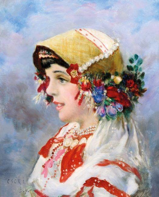 Csók István (1865-1961) - Sokáclány