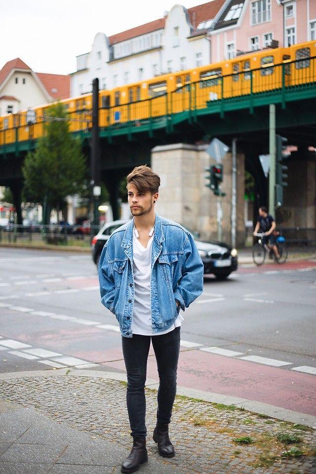 Kevin Elezaj - Selected Homme Chelsea's, H&M Jeans, H&M T Shirt, Levi's® Jacket - Pberg