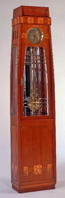 Italian Art Nouveau case clock designed by Piero Zen, ca. 1908.