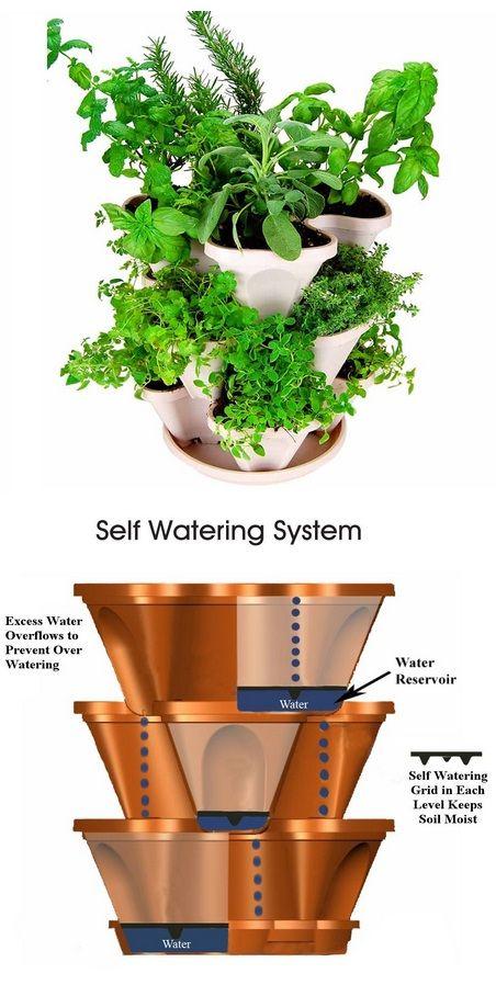 Superb Mini Garden Stacker Stackable Hangable All Season Self Watering Planter