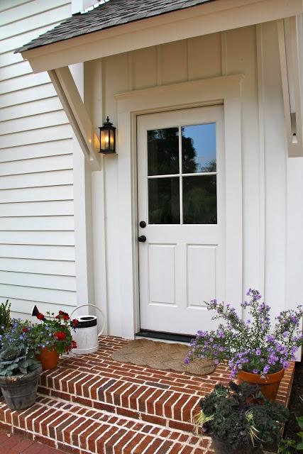 Garage door - Southern Soul Mates: 2012 Southern Living Idea House Exterior: Senoia, Georgia