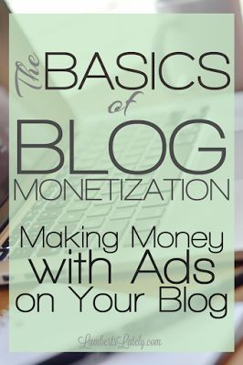 This post has great tips on how to make money with ads on your blog!  She talks about lots of companies, from Adsense to Premium Networks.  Also has a whole series about other ideas for beginners to monetize their blog or website!