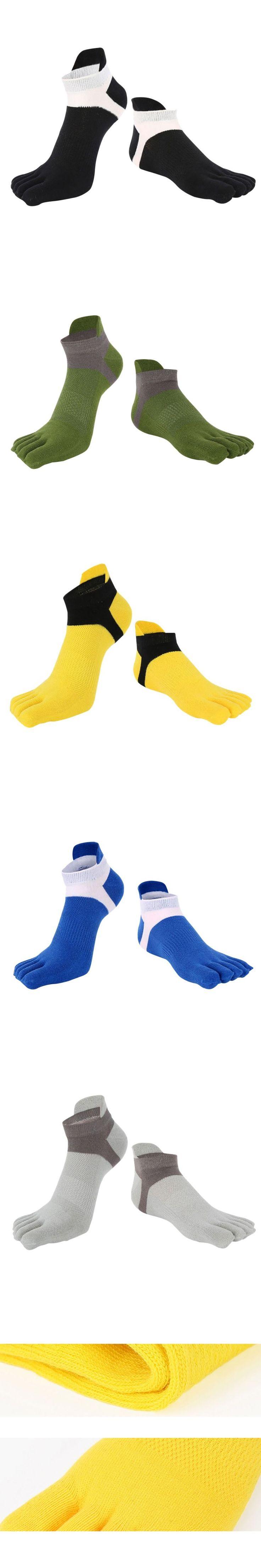 New Men's Cotton Five Finger Toe Socks Deportes Short Tube Mesh Finger Meias Polyester Sock Correr Elasticity Sock J2
