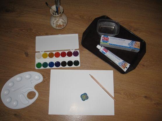 Детские поделки - Мастер-класс Краски из зубной пасты
