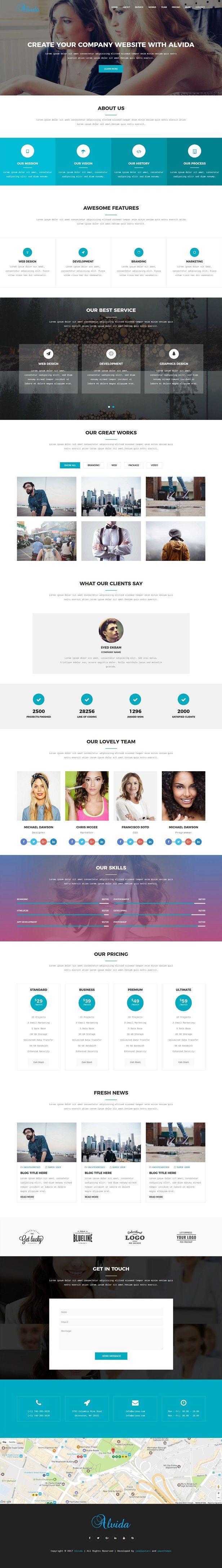 Alvida - One Page Business Joomla Theme  #joomla #theme #template #themeforest #envato #windstripethemes #business #onepage
